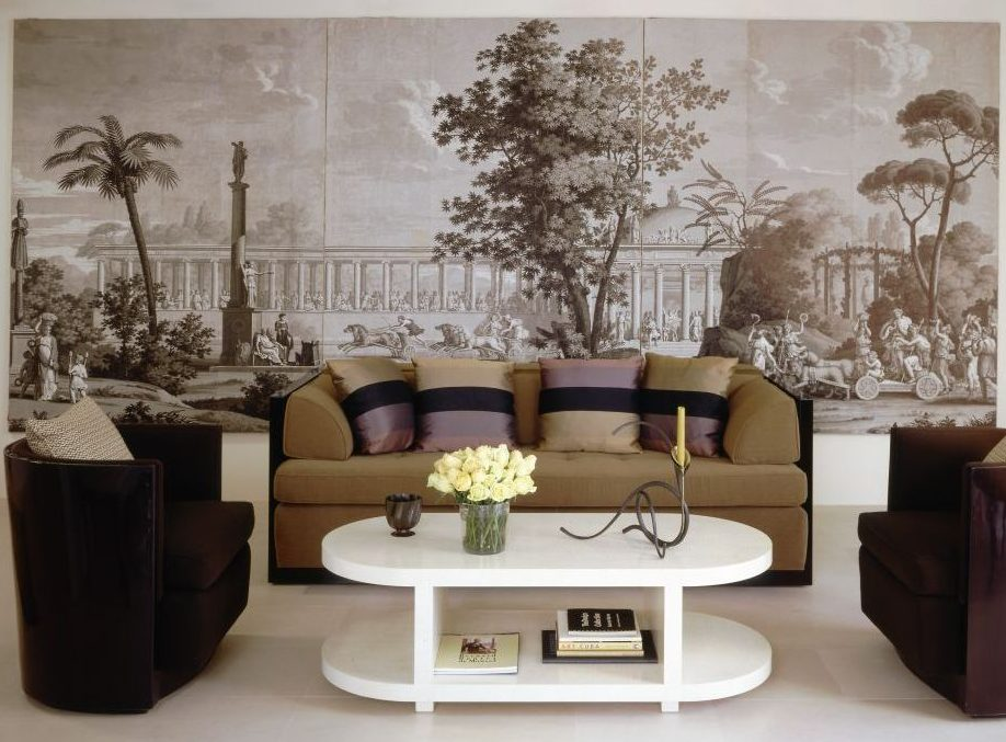 A neo-classical panel blends into a modern setting